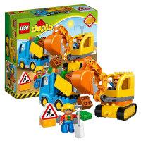 【当当自营】LEGO乐高积木得宝DUPLO系列10812 2-5岁卡车和挖掘车套装