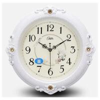 (38CM)康巴丝16英寸静音欧式钟表挂钟客厅卧室时尚创意石英钟表