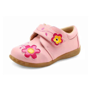 鞋柜/SHOEBOX秋季新款童鞋花朵儿童鞋女童潮女孩童装秋鞋