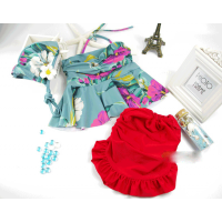 韩版儿童泳衣女童游泳衣中大童比基尼分体裙式泳装女孩公主宝宝