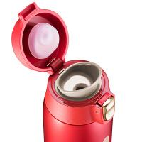 【新店入驻包邮】苏泊尔轻量保温杯 新款AIR一键开合 304钢400ML 绛红色 KC40CQ20