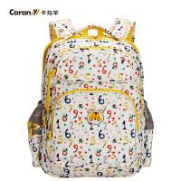 卡拉羊小学生书包韩版男女儿童减负护脊双肩背包小学生书包CX2659