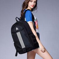 双肩包女韩版高中初中学生书包电脑包大容量旅行包时尚潮流背包男 条纹黑