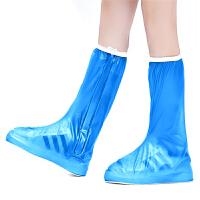 户外加厚耐磨鞋底防滑 防雨鞋套高筒拉链款