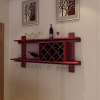 20190718101440923实木酒柜壁挂酒架挂墙餐厅墙上置物架现代简约墙壁式红酒格子菱形