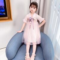 女童汉服连衣裙夏装儿童夏季短袖中国风超仙公主裙子