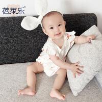 婴儿连体衣服宝宝新生儿季6个月春款童三角哈衣新年