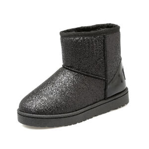 O'SHELL法国欧希尔新品冬季159-A-916韩版超纤皮平跟女士雪地靴