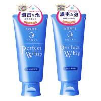 资生堂(Shiseido)洗颜专科洁面柔澈泡沫洁面乳专科洗面奶120g(2支装)两种版本随发 包邮