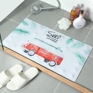 物有物语 马桶垫 3D海洋海豚地毯法兰绒坐便器地垫三件套装浴室回弹力好圆角包边吸水防滑垫多种卡通图案图型可选卫浴用品