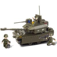 【满200减100】小鲁班装甲兵团军事系列儿童益智拼装积木玩具 艾布拉姆斯坦克M38-B0287