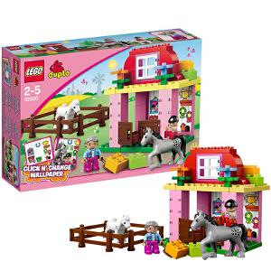 [当当自营]LEGO 乐高 duplo得宝系列 养马房 积木拼插儿童益智玩具 10500