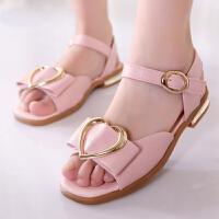 童鞋女童凉鞋儿童软底高跟公主鞋夏季小女孩时尚鱼嘴凉鞋