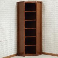 实木书柜书架组合带门实木转角玻璃储物柜展示柜现代中式书橱 1-1.2米宽