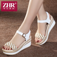 ZHR2018夏季新品韩版女凉鞋坡跟凉鞋女松糕厚底女鞋平底学生凉鞋潮M39