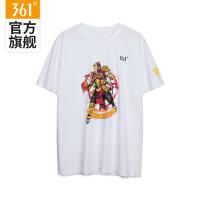 【2件4折】361度男装秋季时尚印花舒适透气薄运动短袖男T恤 N 651831107
