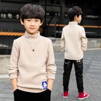 中大童套头韩版儿童装男童秋冬装加绒长袖打底衫t恤