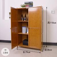 楠竹厨房储物柜收纳柜餐边柜现代简约置物架茶水柜带门带抽屉柜子 双门