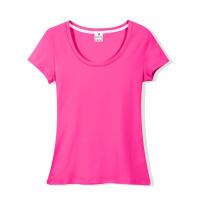紧身上衣韩版棉圆领T恤修身短袖女白低领打底衫黑色体恤紧身纯色