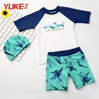 儿童泳衣中大童分体游泳衣男孩宝宝套装泳装游泳装备