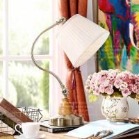 奇居良品 美式北欧简约现代客厅书房卧室装饰灯具 奥莱希铁艺台灯