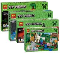 六一礼物 乐高式兼容乐高式我的世界Minecraft巫师森林传送门铁傀儡凋零积木10468 10469 10470 1