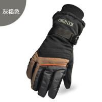 户外加厚棉防寒加绒骑车保暖手套男士骑行摩托车电动车手套