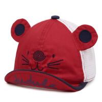 户外儿童棒球帽 网眼鸭舌帽宝宝透气遮阳帽子小孩卡通翘舌帽
