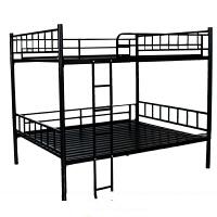 简易双层铁床上下铺学生宿舍床员工上下床铁架床高低床铁艺床