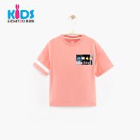 爱居兔童装2018夏新品男童短袖T恤