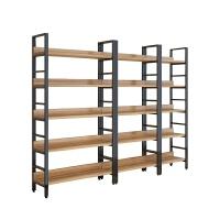 家用钢木书架落地简易置物架多层书柜组合收纳储物铁艺货架展示架 主图五层60 +五层80+五层100