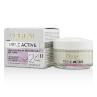 欧莱雅 L'Oreal 多效防护日用面霜(24小时补水)Triple Active-适用于干燥/敏感肌肤 50ml