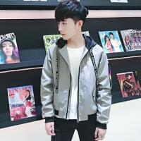青少年短款夹克衫2018新款男生外套春季韩版潮流修身学生帅气上衣