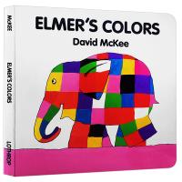花格子大象艾玛认颜色 英文原版 Elmer's Colors 英文版儿童启蒙认知纸板书 幼儿英语早教绘本 廖采杏推荐 正