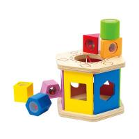 Hape六角分类积木盒1-2岁儿童早教益智木制玩具婴幼玩具E0407