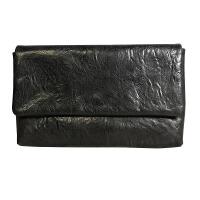 男士信封包真皮大容量手包牛皮手抓包手抓纹休闲商务软皮手拿夹包 黑色