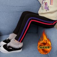 韩版5岁小脚裤6女童加绒打底裤一体绒3女孩冬季裤子