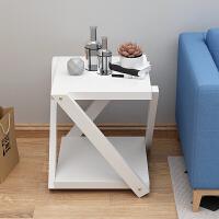 沙发边柜实木边几简约床边小桌子创意客厅阳台茶几角几边桌北欧 白色 45*45*50