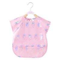 宝宝吃饭罩衣围兜夏季薄款女孩婴儿外防水饭衣儿童男围裙护衣围兜