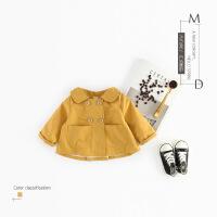 春秋女童韩版双排扣风衣外套女宝宝洋气公主春装婴儿2时尚0-1-3岁