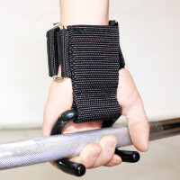 硬拉助力带助力钩引体向上手套健身握力带男器材单杠防老茧滑护腕