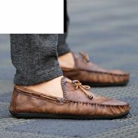 豆豆鞋男商务休闲皮鞋2017春夏新款休闲男鞋英伦驾车鞋懒人套脚鞋男士皮鞋潮鞋