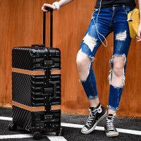 20180821195822258拉杆箱万向轮24寸铝框皮箱旅行箱女行李箱26寸包硬箱登机箱20