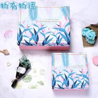礼品盒 大号创意长方形包装盒子正方形碎花礼物盒生日礼物送女友闺蜜