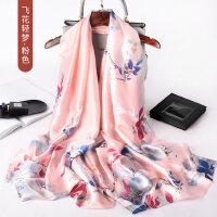 户外丝绸韩版百搭薄丝巾女长款两用披肩纱巾中年妈妈围巾