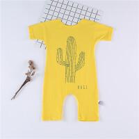 夏季衣服新生宝宝棉莫代尔哈衣薄款短袖0春秋睡衣1岁婴儿连体衣