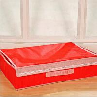 普润 二合一糖果色(15+1格)清新带盖无纺布文胸内衣袜子整理盒 大红