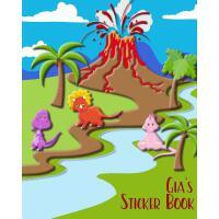 【预订】Gia's Sticker Book: Blank Pages for Drawing or Putting