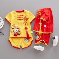 男童汉服宝宝唐装婴儿周岁礼服婴幼儿中国风套装小童2夏装0-1-3岁