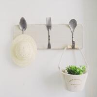 厨房收纳做旧铁艺挂钩创意复古勺叉复古挂钩